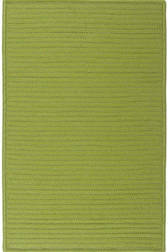 Solid Area Rug, 2'x11'RUNNER, BRIGHT GREEN