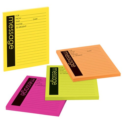 Post-it Super Sticky Telephone Message Notes, 4 x 5-Inches,
