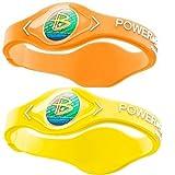 Power Balance Silicone Sports Wristbands-Neon-Orange-PB-Neon-Yellow-M-Pack-of-2