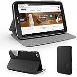 Anker® Ultra Slim Hülle Galaxy Tab 3 8.0 Case Tasche Etui Schutzhülle für Samsung Galaxy Tab 3 8 Zoll Tablet T3100 / T3110 aus PU Kunstleder mit Ständer - Schwarz