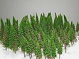 【Good in three directions】もふもふ 大 森林 のっぽな2種類 4cm 6㎝ 各50本 100 本 ジオラマ 用 木 樹 Z N ゲージ 2種類 のっぽ