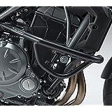 Black Steel Engine Guard Highway Crash Bar Protector For 2017 Kawasaki Z650 (Color: Black)