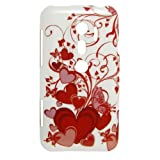 Red Butterfly Prints TPU Soft Plastic Case for HTC EVO 3D