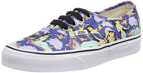 Vans Authentic - Zapatillas de lona para hombre azul Blue (Disney - Jasmine/Deep Ultramarine) 34.5