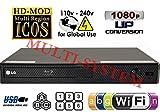 LG BP350 Wi-fi機能 リージョンフリー日本語メニュー DVD・ブルーレイ プレーヤー 【PAL/NTSC対応・ファームアップ対応・電圧世界対応・HDMIケーブルセット】 (並_行_輸_入_品)