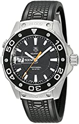 TAG Heuer Men's WAJ1110.FT6015 Aquaracer 500 M Rubber Strap Watch
