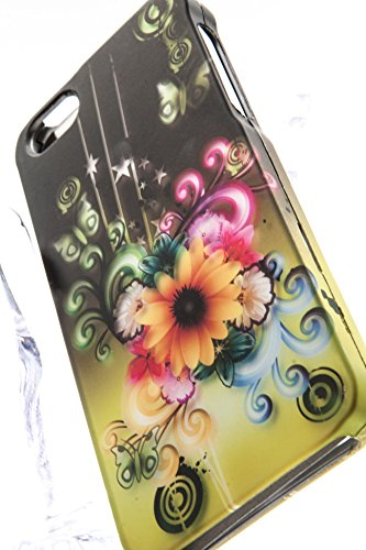 Shockwize (Tm) Imago Series Apple Iphone 5 5S Brilliant Yellow Daisy Design Art Artwork Armor Protector Cover Case A1533 A1457 A1530 A1453 (Electric Flower)