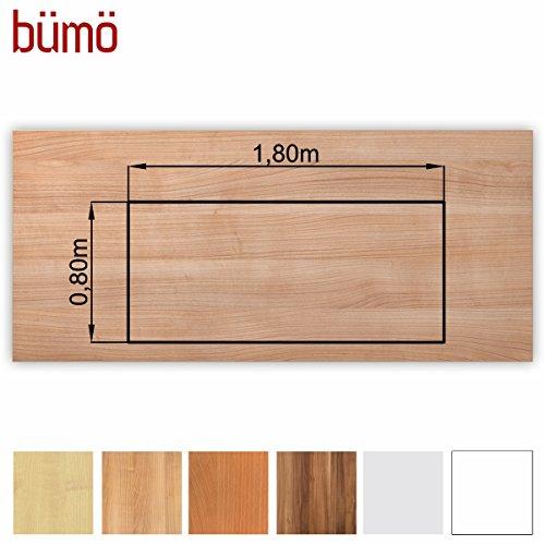 Bm-stabile-Tischplatte-25-cm-stark-DIY-Schreibtischplatte-aus-Holz-Brotischplatte-belastbar-mit-120-kg-Spanholzplatte-in-vielen-Formen-Dekoren-Platte-fr-Bro-Tisch-mehr-Rechteck-180-x-80-cm-Nussbaum