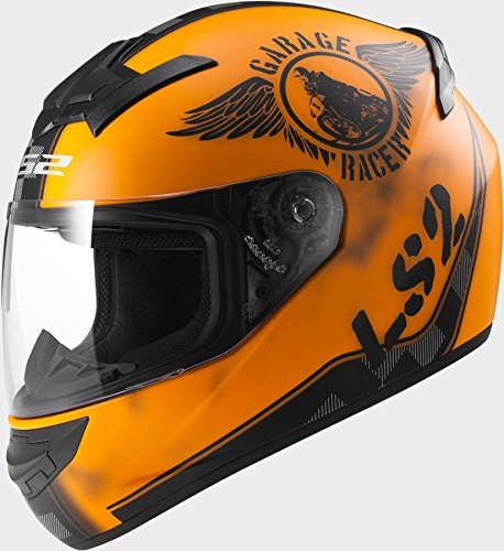 LS2 FF352 Rookie Fan Matt Orange Motorcycle Helmet
