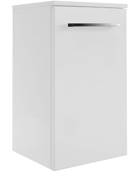 Fackelmann Rondo sotto l' armadietto, Links, Colore: Bianco lucido/bianco lucido/mobili da bagno