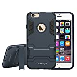 iPhone 6 Plus Case,Z-Roya [ Robot-Bear] Dual Layer Protective Hybird Armor Case [Slim Fit] CGTXA16B Advanced Shock Absorption Protection with Kick-Stand Feature for iPhone 6 5.5