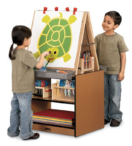 Jonti-Craft 0289JC, Kids Play Sproutz 2 Station Easel