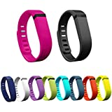 Sunvito 10pcs Large/Small Replacement Wrist Band With Clasps for Fitbit Flex(No Tracker)