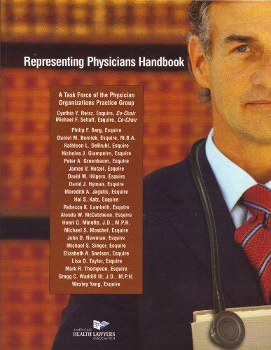 Representing Physicians Handbook (American Health Lawyers Association)