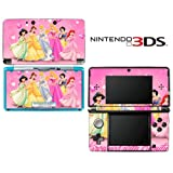 Princess Friends Pink Jasmine Cinderalla Snow White Decorative Video Game Decal Cover Skin Protector for Nintendo 3Ds (not 3DS XL)