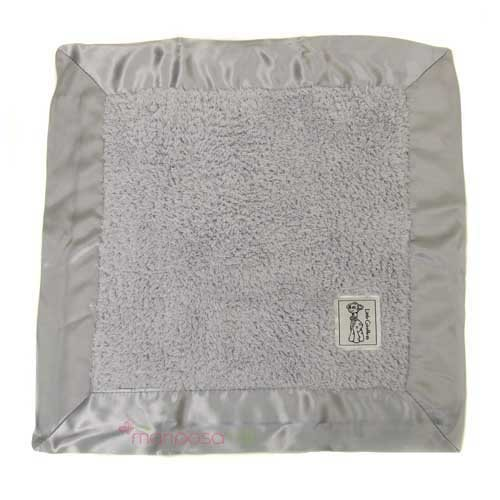 "Little Giraffe Chenille Travel Blanky 14""x14"" - Sliver"