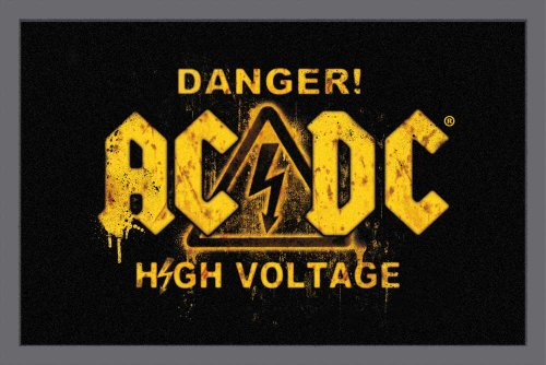 Empire Merchandising GmbH, 623959, Zerbino AC/DC Danger, 60 x 40 cm, in polipropilene, colore: Nero/Giallo