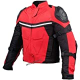NEW PRO MESH MOTORCYCLE JACKET RAIN WATERPROOF RED M