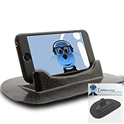 iTALKonline Motorola Nexus 6 (Google) Black Sticky (NO GLUE) Mat Anti-Slip In Car Dashboard Desk Table Vertical / Horizontal Holder