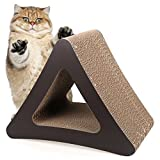 Homdox-3-Sided-Cat-Scratching-Post-Cat-scratchers-Vertical-Corrugated-Cardboard-Cat-Toy