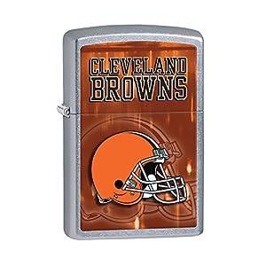 Zippo NFL Cleveland Browns Street Chrome Pocket Lighter