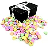 NECCO Large Classic Sweethearts Conversation Hearts, 1 lb Bag in a BlackTie Box