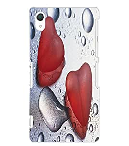 ColourCraft Love Design Back Case Cover for SONY XPERIA Z2