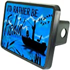 I'd Rather Be Fishin - Morning Skies Custom Hitch Plug for 2