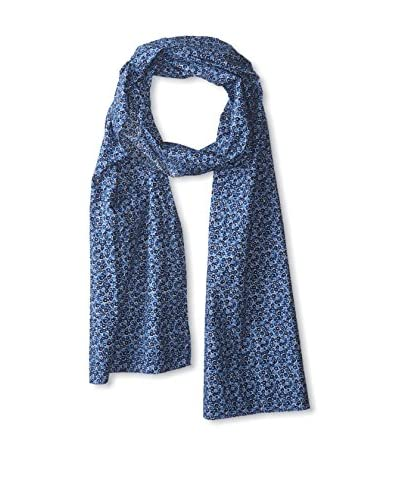 J. McLaughlin Men's Cotton Floral Scarf, Blue/Multi