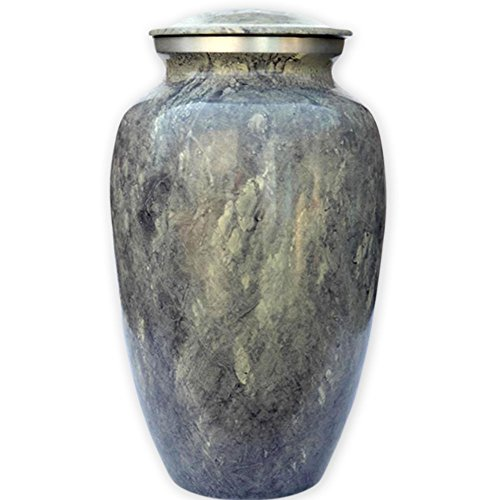 Beautiful Life Urns Apollonia Grey Adult Cremation Urn - Sophisticated Funeral Urn with a Stunning Faux Marble Finish (Large) (Burial Urn Vault compare prices)