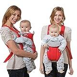 Lusee� Portabeb�s portadores de beb� del vuelta soportes portadores de cadera beb� carrier portador 15KG 4-24 meses (rojo)