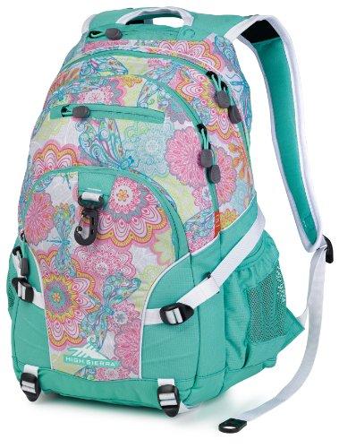 High Sierra Loop Backpack, Henna Dragon/Aquamarine/White, 19 X 13.5 X 8.5-Inch
