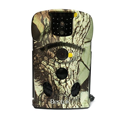 Bestok Ltl-8210A PIR Visione Notturna Grandangolare 140° Schermo LCD Hunting Camera Camouflage Macchine Fotografica da Caccia Traccia Selvaggio Animali Sorveglianza(Camouflage Deserto)