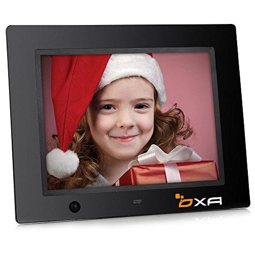 OXA 8 Pulgadas HD Marco Digital Fotográfico de con Incorporada Tarjeta de 16G, Detección de Movimiento