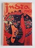 India Travel Poster Fridge Magnet