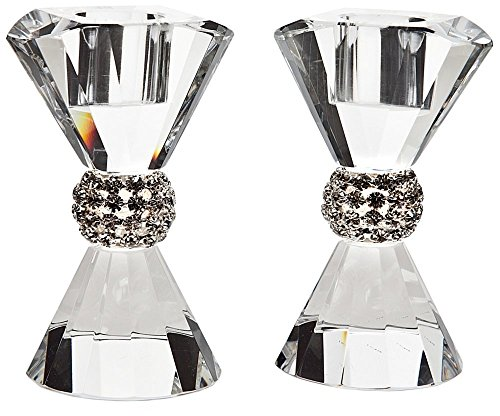 PAGEANT CRYSTAL BLING CANDLE STICK PAIR