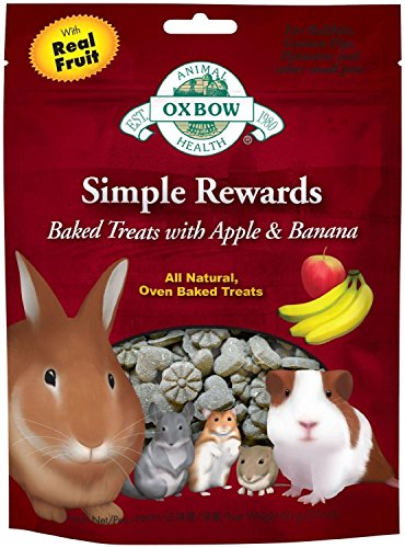 Oxbow Simple Rewards Baked Treats – Apple and Banana – 2 ounces 51dXv4JLBoL