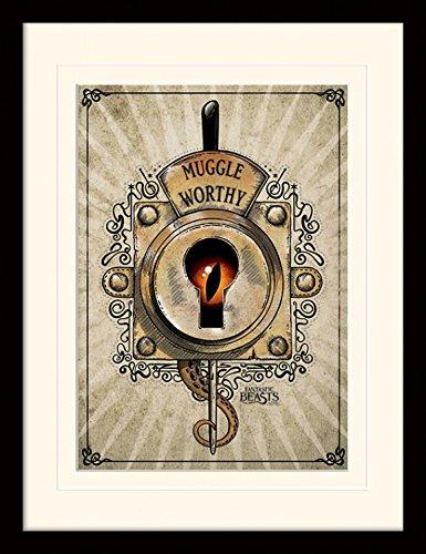 Animali Fantastici E Dove Trovarli - Muggle Worthy Poster Da Collezione Incorniciato (40 x 30cm)