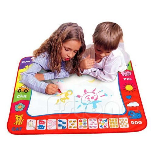 80X60cm Water Drawing Toy Painting Writing Mat Board 2 Magic Pens Doodle Mat bbkub