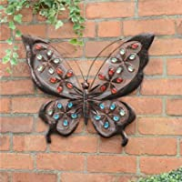 Weatherproof Solar Butterfly Wall Art by Choicefullbargain