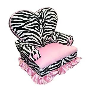 Newco Kids Princess Heart Chair Minky, Zebra