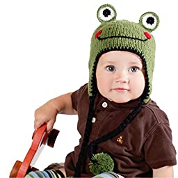 Huggalugs Baby and Toddler Boys or Girls Ribbit Frog Beanie Hat S