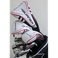 Buy TaylorMade Mens Complete Golf Club Set Driver, 3 Wood, Hybrid, Irons, Putter, Stand Bag Taylor Made... by TaylorMade