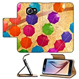 MSD Premium Samsung Galaxy S6 Flip Pu Leather Wallet Case light illuminated the background from beautiful translucent flowers Image ID 24953048