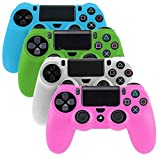 PlayStation-4-Controller-Case SlickBlue Glow in Dark Series Silicone Protection Case Skin for Sony PS4 Controllers -4 Color (Blue / Green / White / Pink )
