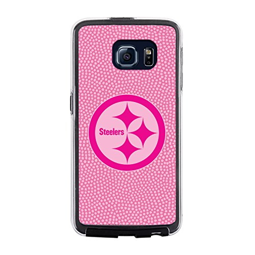 NFL Pittsburgh Steelers Football Pebble Grain Feel No Wordmark Samsung Galaxy S6 Case, Pink at SteelerMania