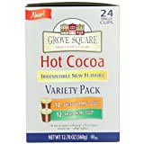 Grove Square Hot Cocoa, Irresistible Variety Pack, 24-Count Single Serve Cup