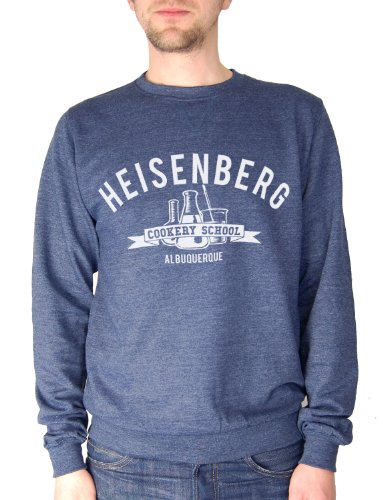 Balcony Shirts 'Heisenberg Cookery School' Mens Sweatshirt - Navy - Large