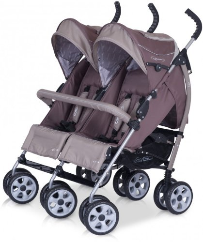 Pram - Stroller for Twins - Aluminium Pushchair in 5 colours available - New 2013 version, Colour:chocolate 1095