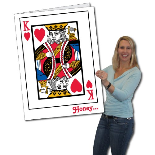 2'x3' King of Hearts Huge Valentine's Day Card W/Envelope